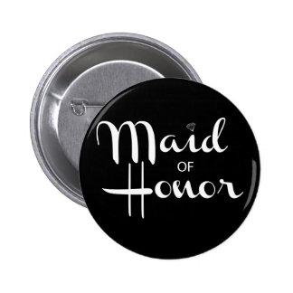 Maid of Honor Retro Script Button