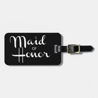 Maid of Honor Retro Script Luggage Tag