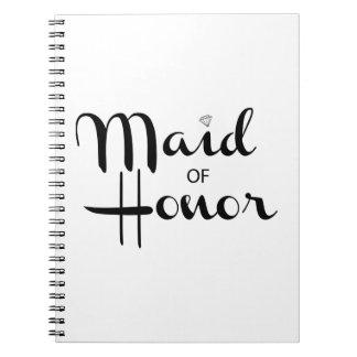 Maid of Honor Retro Script Notebook