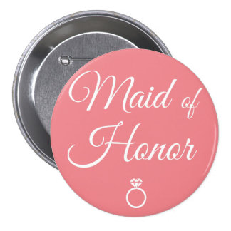 Maid of honor ring button