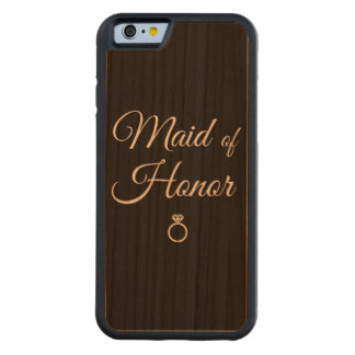 Maid of honor ring carved cherry iPhone 6 bumper case