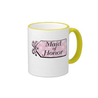 Maid of Honor Ringer Coffee Mug