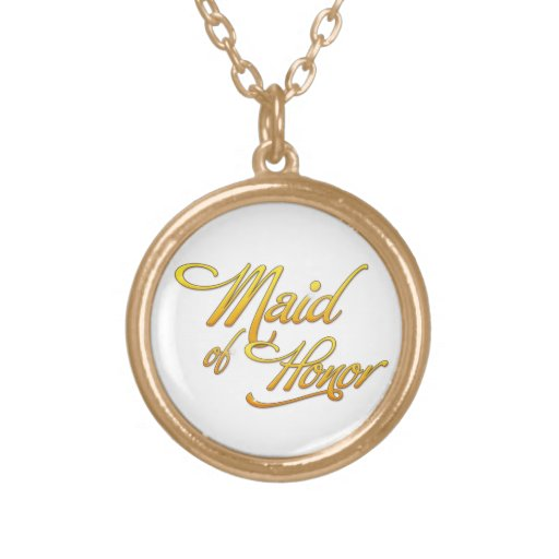 Maid Of Honor Round Pendant Necklace