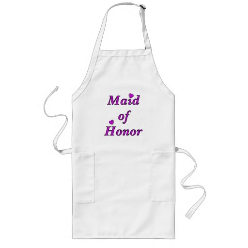 Maid of Honor Simply Love Long Apron