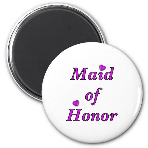 Maid of Honor Simply Love Refrigerator Magnet