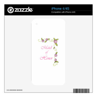 MAID OF HONOR DECAL FOR THE iPhone 4