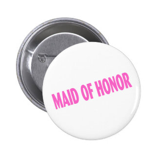 Maid of Honor (Slanted Pink) 2 Inch Round Button