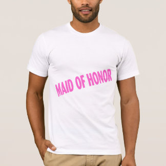 Maid of Honor Slanted Pink T-Shirt