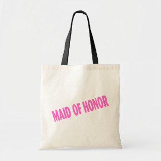 Maid of Honor (Slanted Pink) Tote Bag