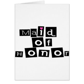 Maid of Honor (Sq Blk) Card