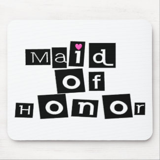 Maid of Honor (Sq Blk) Mouse Pad