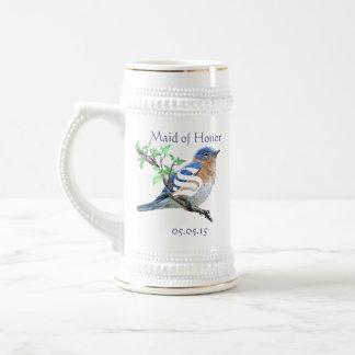 Maid of Honor Stein Wedding Vintage Bluebirds