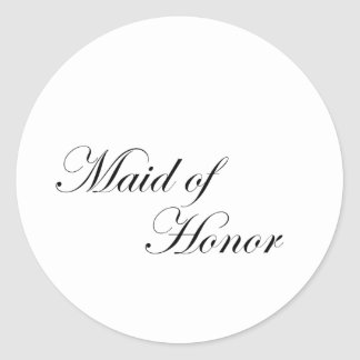 Maid of Honor Sticker