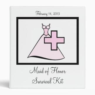 Maid of Honor Survival Kit Binder
