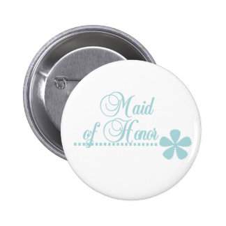 Maid of Honor Teal Elegance Buttons