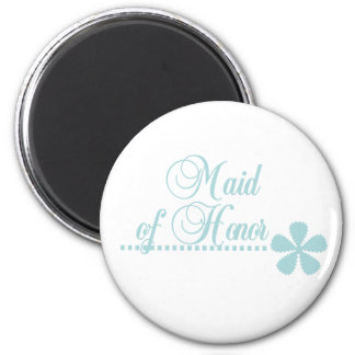 Maid of Honor Teal Elegance Magnet