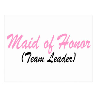 Maid Of Honor (Team Leader) Postcard