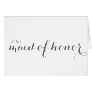 Maid of Honor Thank You