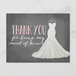 maid of honor thank you bridesmaid
