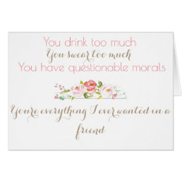Maid Of Honor Thank You Card