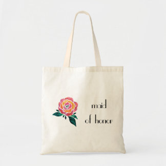 Maid of Honor Tote Wedding Modern Rose