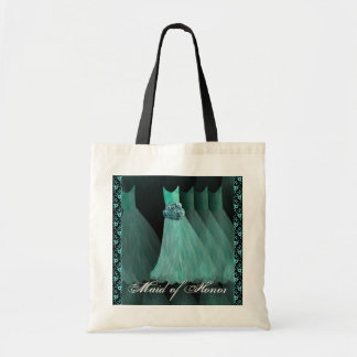 Maid of Honor - TURQUOISE Dresses Cotton Tote Bag
