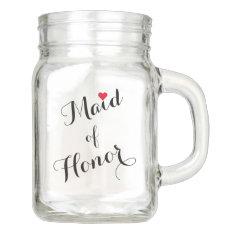 Maid of Honor Wedding Bridal Shower Elegant Script Mason Jar at Zazzle