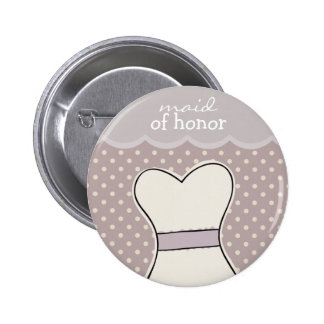 Maid of honor -- Wedding dress // PURPLE Pinback Button