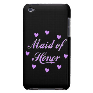 Maid of Honor Wedding Hearts iPod Touch Cases