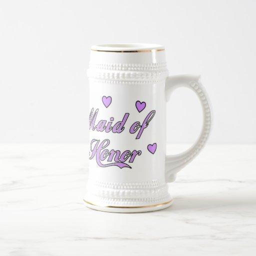 Maid of Honor Wedding Hearts Mug
