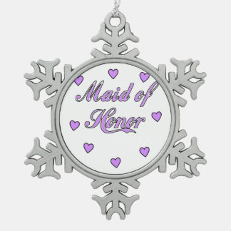 Maid of Honor Wedding Hearts Ornament