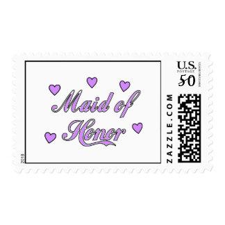 Maid of Honor Wedding Hearts Postage
