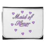 Maid of Honor Wedding Hearts Trifold Wallet