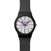 Maid of Honor Wedding Hearts Wristwatch
