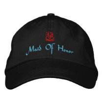 Maid Of Honor Wedding I Black Embroidered Baseball Cap