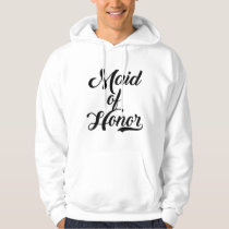Maid Of Honor Wedding Party Hoodie