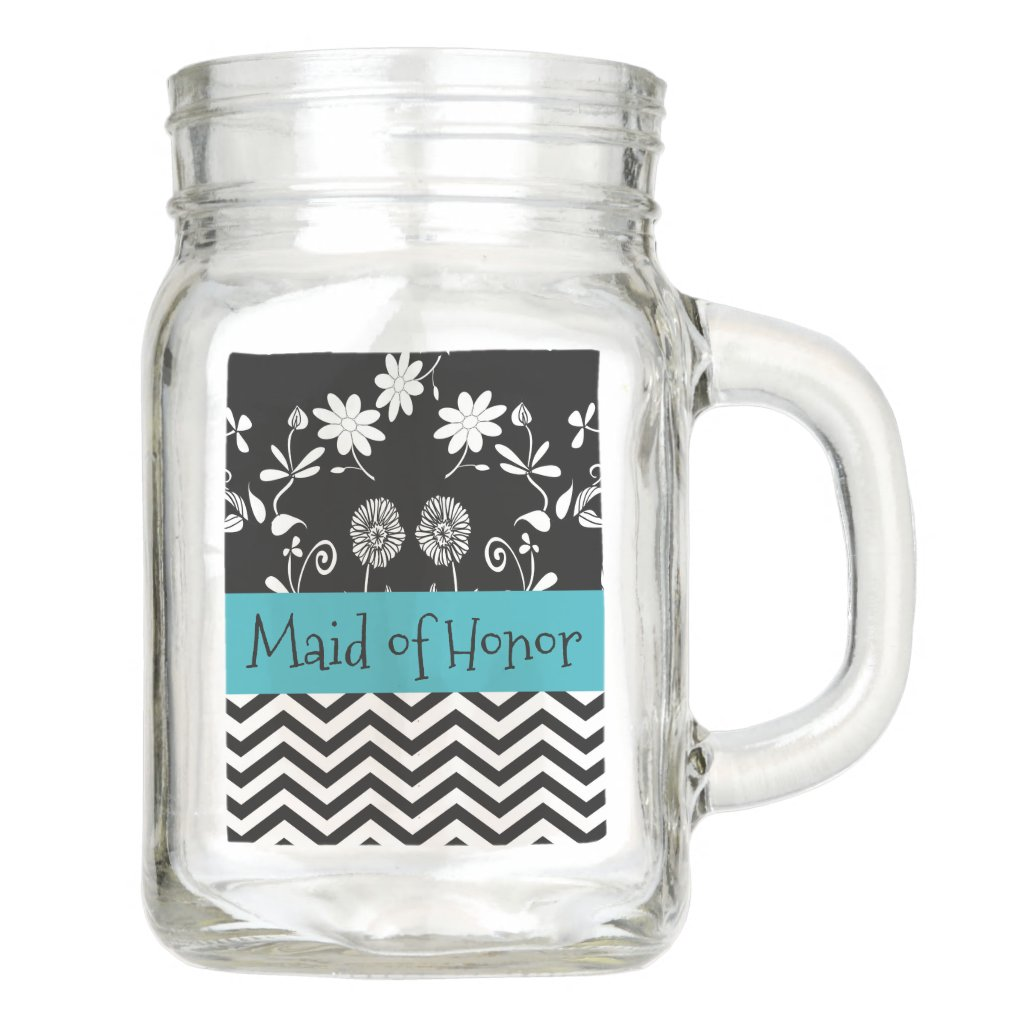 Maid of Honor Wedding party Thank You Glass Mug