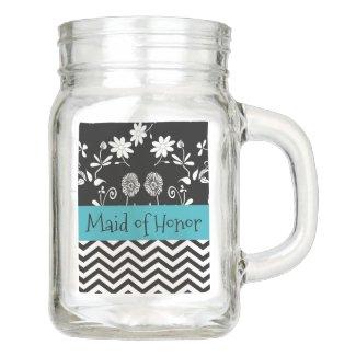 Maid of Honor Wedding party Thank You Glass Mug