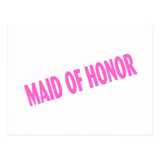 Maid of Honor Wedding Pink Postcard