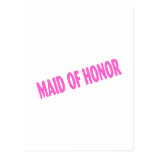 Maid of Honor Wedding Pink Postcard