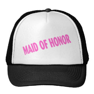 Maid of Honor Wedding Pink Trucker Hat