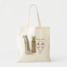 Maid Of Honor Wedding Shoes Tote Gift Bag at Zazzle