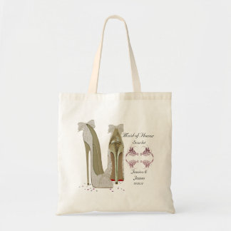 Maid of Honor Wedding Shoes Tote Gift Bag