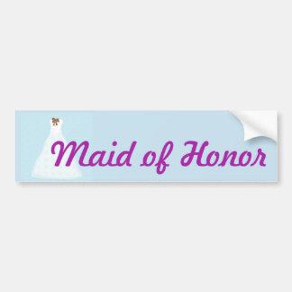 Maid of Honor wedding sticker