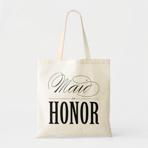 MAID OF HONOR WEDDING TOTE BAG
