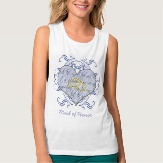 Maid of Honor Wedding Vow Flowy Muscle Tank Top