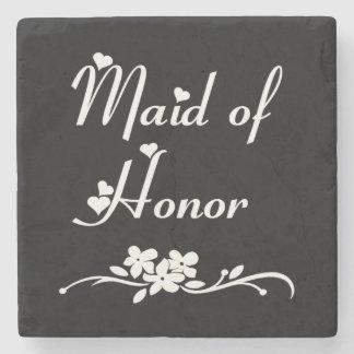 Maid Of Honor Weddings Stone Beverage Coaster