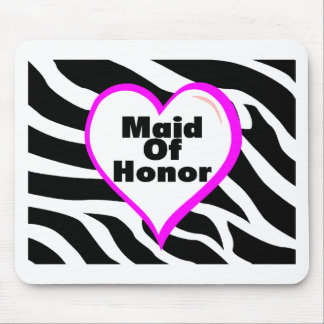 Maid Of Honor Zebra Stripes Mouse Pad