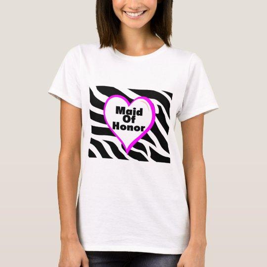 Maid Of Honor Zebra Stripes T-Shirt