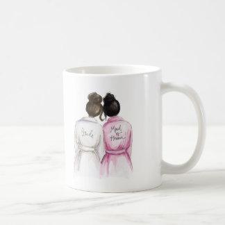 Maid of Honour? Dk Br Bun Bride Bk Bun Maid Classic White Coffee Mug